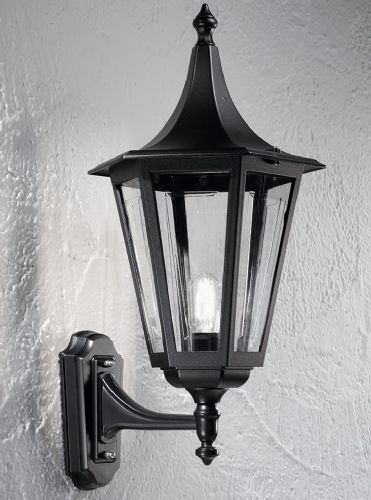 Franklite LA1608-1 Black Wall Light
